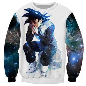 Cloudstyle Dragon Ball Super 3D Anime Sweatshirt Men Goku Ultra Instinct 3D Print Pullover Top Harajuku Streetwear Tracksuit Y200704