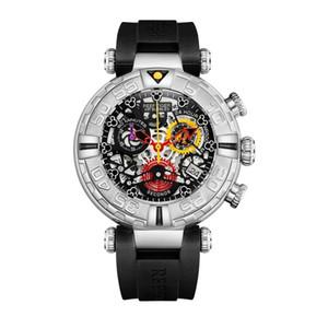 Reloj cronógrafo casual para hombre, relojes de pulsera para hombre Reef Tiger hombre vestido impermeable reloj de pulsera de cuarzo de lujo montre homme RGA3059-S T200409