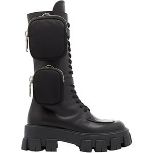 SICAK 2020 Son Style Yeni Geliş Cep Motosiklet Boots Yakışıklı Lace Up Kalın tabana vurma Siyah Ayakkabı Yarım Çizme