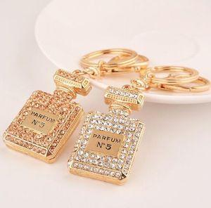 Frasco de perfume Keychain Chaveiro titular chaveiro Car Chaveiro Porte Clef presente Mulheres Loja Saco do presente de Natal Pendant