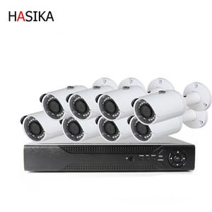 1080p HD IP Крытый открытый 3.6mm инфракрасный CCTV дома Видеонаблюдение 8-канальный POE IP camerakits