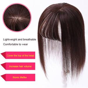 foglio superiore capelli sostituzione Bangs simulato per coprire bianco naturale dei capelli frangetta aria blocco sostituzione traspirante 3D Prodotti per capelli