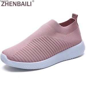 Breathable Size Outdoor wholesale Mesh Knit Plus Slip On Women Sock Shoes 2019 Summer Sneakers Flat Lightweight Walking Trainers