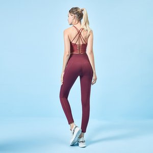 Wholesale Hot Solid Color Women Yoga Pants High Sports Gym Wear Leggings Elastic Fitness Lady Overall Full Collants Workout