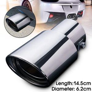 Exhaust Sistemas silenciosos de aço inoxidável traseira Chrome redonda Tubo de Escape Rabo Silenciador Dica traseira do carro garganta Liner Acessórios Car