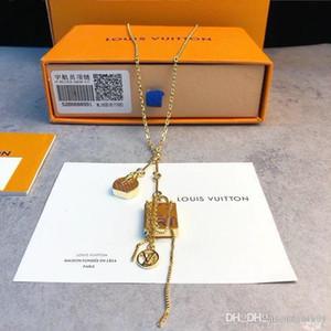 Mini L Designer Halskette Boite Cha de eau-Monogramm-Kreis-Frauen Schmuck Anhänger austrian berühmte Marke 925 Sterlingsilber original box