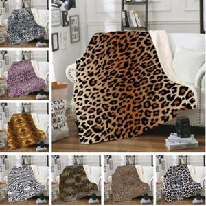 Pleuche Blanket Leopard Grain Sofá Nap cobertor quente 3D Impresso crianças espessamento inverno preservação do calor cobertores de lã WY212Q