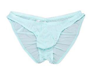 Оптовая высокое качество низкая цена 3 шт./лот SexyTransparent sac U-выпуклые трусы мужское нижнее белье (8llll