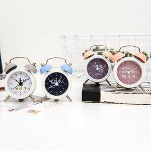 Cute Mini Alarm Clock Creative Metal Small Alarm Clocks 7.5 CM Electronic Small Clock Student Test Carry Clocks