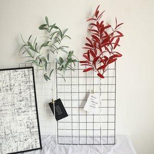 5pcs per lotto artificiale di foglie di olivo simulazione ramo di salice muro foglia bouquet decorazioni per la casa decorazione di nozze fiore falso fiore pianta