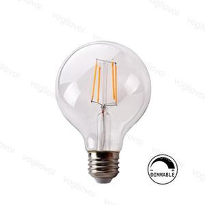 LED Ampuller G95 Dim Dim E27 Filament 360 Açı Edison Lamba 4 W 6 W 8 W Kristal Avizeler Için Kolye Kat Masa Işıkları DHL