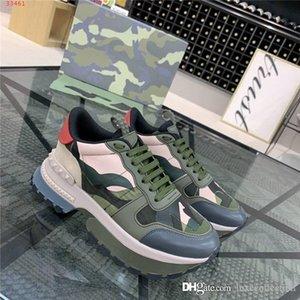 Homens Camuflagem calçados esportivos elemento casuais Low-top altura grossos sapatos de sola sportswear rendas-up aumentando sapatos, com embalagem completa