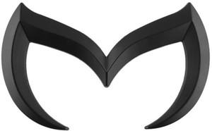 Emblema de coche para Mazda vil metal 'M' del tronco posterior de la divisa del emblema de la etiqueta 3 5 6 M3 M5 M6 Negro mate Plata