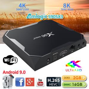 X96 Max Plus Smart TV Box Android 9.0 S905X3 2GB 16GB 2.4G Wi-Fi 8K HD Установите верхний ящик Media Player