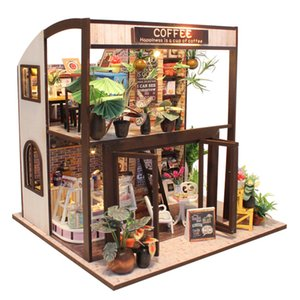 CUTEBEE Doll House Miniature DIY Dollhouse With Furnitures Wooden House Waiting Time Toys For Children Birthday Gift M027 Y200413