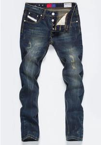 Novos 2020 Mens Vintage Jeans Reta Botão de bolso de designer calças dos homens Moda Distrressed Lavados adolescentes Jeans Masculino Vestuário