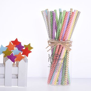 25pcs pack of colorful wave paper straws suitable for children happy birthday wedding disposable straw party decoration supplies bar accesso