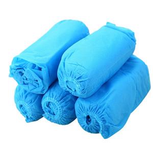 Ботинок бахилы ткань одноразовые галоши крытый ковер пол синий нетканый материал бахилы одноразовые галоши LJJA3840