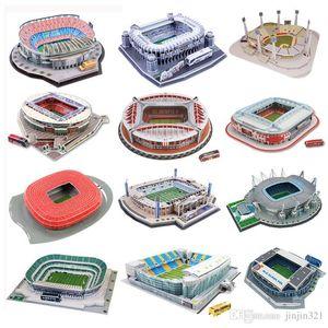 7 modèles 3D sur le terrain de football puzzle en trois dimensions 2018 terrain de football russe casse-tête pour les enfants sort bricolage jouet inséré 3D Puzzles Gam
