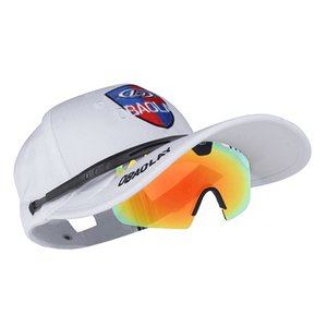 Outdoor sports men women sports UV400 sunglasses + cap red cap polarized cycling Shading hat +glasses 11 colors 89k