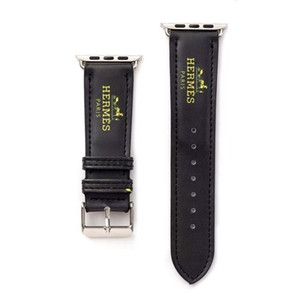Montre bracelet bande pour Apple 38mm 40mm 42mm 44mm cuir PU remplacement intelligent Montres avec adaptateur connecteur Apple série 3 2 1