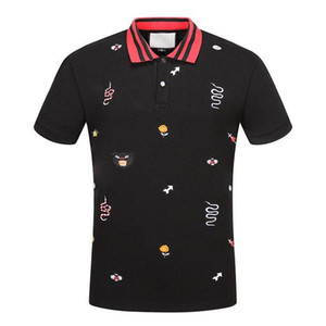 19ss broats Solid Cotton polo with التطريز ... ... bee Kingsnake UFO ... ... MEN pulo shirt collar ... ... polos mens t shirts clothing shorts Poloshirt