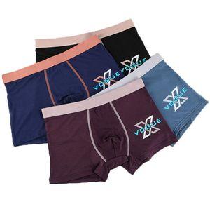 4-color 10-tipo di cotone sexy degli adolescenti di lusso degli uomini boxer biancheria intima 3D moda confortevole degli uomini elastici boxer breve mutande 0805 #