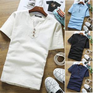 Mens втулки краткости лета тенниска вскользь Solid Color Plus Размер Crew Neck Сыпучие Tshirt Мужской Дизайнер одежды