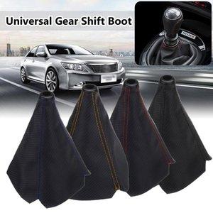 Voiture en fibre de carbone Universal Auto Gear Maj Colliers manuelle voiture Gear Shifter Boot Cover Gaiter Maj