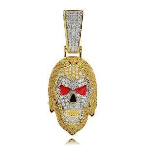 хип-хоп путешествие на запад кулон ожерелья буддизм роскошные бриллианты китайская культура король обезьян подвески 18 К позолоченные ожерелья ювелирные изделия