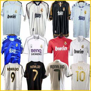 Retro 2010 11 12 Real Madrid Soccer Jersey GUTI Ramos McManaman 13 14 15 RONALDO ZIDANE Beckham 06 07 RAUL Robinho 1999 2000 Carlos 94 95 96