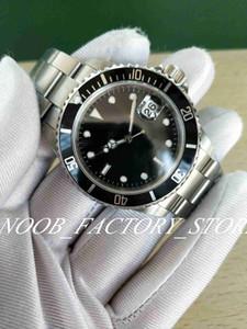 빈티지 시계 망 자동 BP 공장 2813 골동품 시계 남자 블랙 그린 합금 베젤 강철 50 주년 16610 다이브 손목 시계