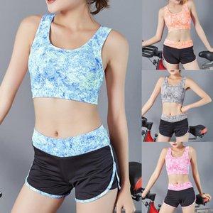 Trainning Йога Набор женщин Фитнес-центр Одежда Спорт Вершин + высокой талией Леггинсы Шорты Exercise Одежда Sportsuits Quick Dry # g2