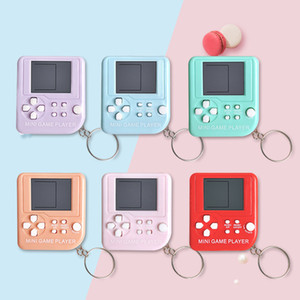 Children mini game player Mini handheld game console keychain Nostalgic classic console keychain