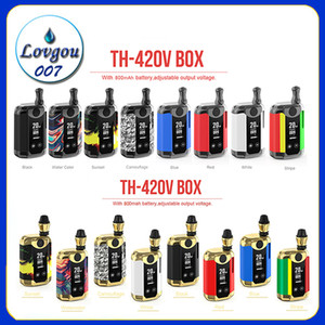 Kangvape TH-420 V Box Kit 800 мАч 20 Вт с переменным напряжением питания Предварительный нагрев VV Battery Mod 0.5 мл Толстые масляные картриджи Vape Original