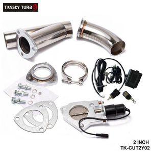 "Tansky - 2"" Exhaust elétrica Catback recorte / E-recorte W / Switch / Remote / Switch + remoto Tubos Recorte sistema de válvula Kit"