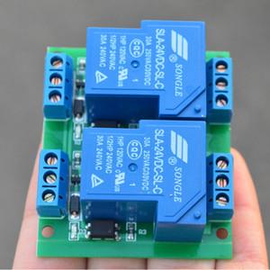 Modulo Relè a 2 Vie 30A Modulo Relè Isolamento Optoaccoppiatore a 2 vie 5V12V24V 4-30V Trigger