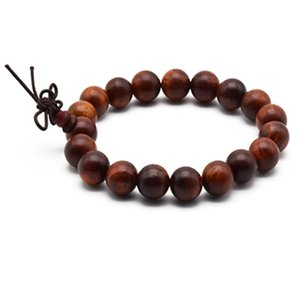 Zen Dear Unisex Natural Rosewood Prayer Beads Buddha Buddhist Prayer Meditation Mala Necklace Bracelet