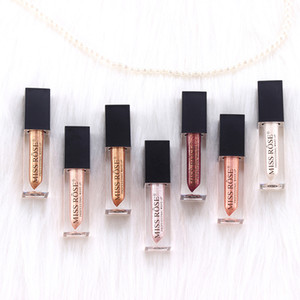 Fräulein Rose Lip Makeup Metallic Lip Gloss-Stick Wasserdichte flüssige Matte Lippenstift 7colors Moisturizer Lipgloss