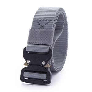 3.8cm Tactical Outdoor Sports Nylon Canvas Men Women Waist Belt Buckle Casual Cowboy Black Belts Ceinture for