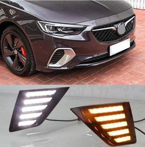 2 ADET Akan Dönüş Sarı Sinyal Fonksiyonu 12 V Araba DRL Lamba LED Gündüz Çalışan Işık Buick Opel Insignia GS Için 2017 2018