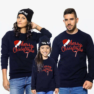 Christmas Family Matching Sweater Clothes Dad Mom Kids Warm Hoodies Sweatshirts Parent-child Cotton Fleece Jacket