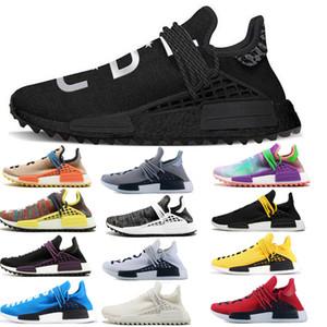 2018 nouvelles pharrell williams race humaine NMD hommes sport féminin Chaussures de course noir NMD blanc gris primeknit coureur PK XR1 R1 R2 Sneakers