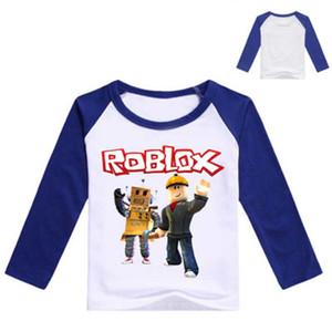Enfants Pull Sweatshirts Garçon À Manches Longues T-shirt Vêtements Enfants Printemps Automne Hauts Tee Costume Filles 2019 Roblox Vêtements