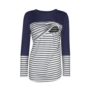 Nursing Top Women Breastfeeding Casual Loose Long Sleeve Stripe Winter for Feeding Maternity Pregnancy Clothes Plus Size 18Dec17