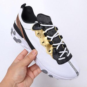 react element 87 55 running shoes for mens womens Pack White Sneakers Brand Men Women Trainer Men Women Designer Running Shoes