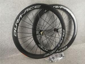 DURA ACE Route Carbone Roue à pneu tubulaire 50mm 60mm 700C Wheelset brillant mat 3k / ud C8 roulement en céramique