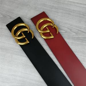 2020 дизайнер женской моды нового широкий 7сма ремень, черный, красный корпус, золотой пояс пряжки горячих оптом, 06