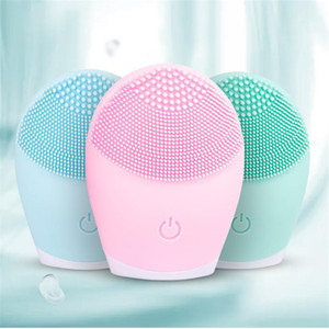 Electric Face Cleansing Brush Waterproof Deep Pore Facial Clean Brush Silicone Face Cleanser Massage Skin Care JK2006