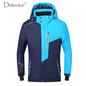 Detector hombre chaqueta de esquí de invierno snowboard traje de los hombres al aire libre caliente impermeable a prueba de viento ropa transpirable
